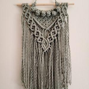Handmade Macrame Wall Hanging - Sage